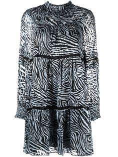 Michael Michael Kors платье с длинными рукавами и зебровым принтом