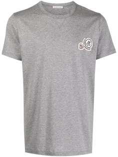 Moncler футболка с нашивкой-логотипом