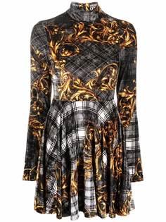 Versace Jeans Couture платье мини с узором Baroque