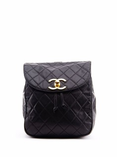 Chanel Pre-Owned стеганый рюкзак 1990-х годов с логотипом CC