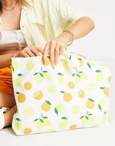 Яркая сумка-шопер с принтом фруктов Accessorize-Multi