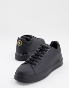 Черные кроссовки на танкетке River Island-Черный цвет