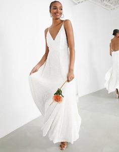 Свадебное платье на бретельках с отделкой пайетками ASOS EDITION Josie-Мульти