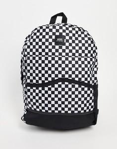 Черно-белый рюкзак в шахматную клетку Vans Construct Skool-Черный цвет
