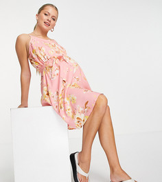 Платье на бретельках с цветочным принтом Mamalicious-Многоцветный Mama.Licious