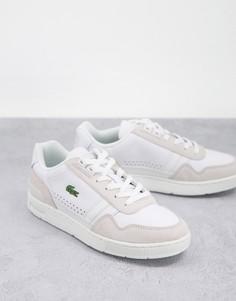 Белые кожаные кроссовки Lacoste T-Clip-Белый