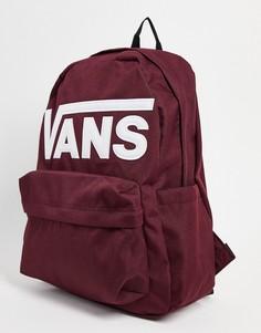 Бордовый рюкзак Vans Old Skool Drop V-Красный