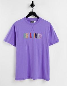 Фиолетовая футболка с радужной вышивкой Reclaimed Vintage Inspired-Фиолетовый цвет