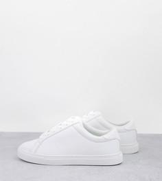 Белые кроссовки для широкой стопы ASOS DESIGN Wide Fit Drama-Белый