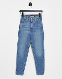 Синие выбеленные джинсы в винтажном стиле с завышенной талией Levis-Голубой