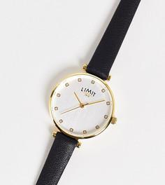 Женские часы с черным ремешком из искусственной кожи и круглым циферблатом Limit – эксклюзивно для ASOS-Черный цвет