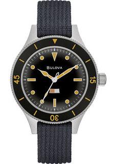 Японские наручные мужские часы Bulova 98A266. Коллекция Mil-Ships