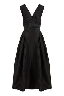 Черное платье без рукавов Self Portrait