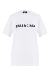 Белая футболка с логотипом Balenciaga