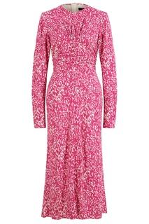 Платье с принтом цвета фуксии Linario Isabel Marant