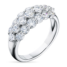 Кольцо из золота с бриллиантами э0901кц04210914 ЭПЛ Якутские Бриллианты