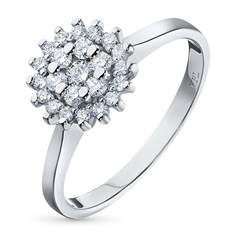 Кольцо из золота с бриллиантами э0901кц06184900 ЭПЛ Якутские Бриллианты
