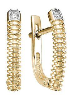 Золотые серьги Серьги Ювелирные Традиции S112-5620