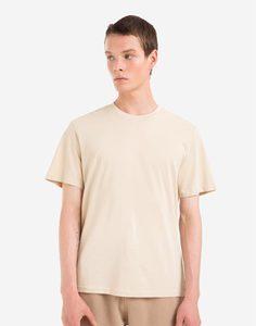 Бежевая базовая футболка Gloria Jeans