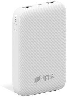 Аккумулятор внешний портативный HIPER SPX10000 white, Quick Charge 3.0, Apple:iPhone 8, iPhone 8 Plus, iPhoneХ, Macbook c USB Type-C