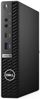 Компьютер Dell Optiplex 7080 Micro i7 10700/8GB/256GB SSD/UHDG 630/Linux/GBitEth/WiFi/BT/180W/клавиатура/мышь/черный