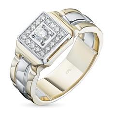 Кольцо из золота с бриллиантами э1001кц11190180 ЭПЛ Якутские Бриллианты