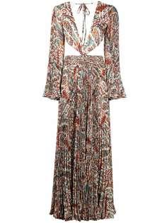ETRO платье с открытой спиной и принтом пейсли