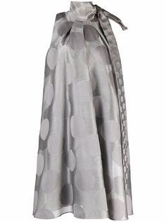 Max Mara платье в горох с бантом