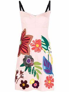 Dolce & Gabbana платье без рукавов с цветочной аппликацией