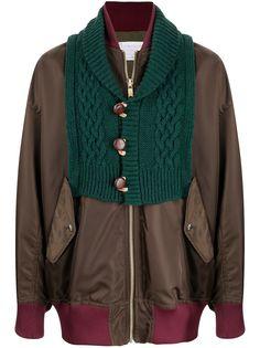 Kolor куртка с вязаной вставкой