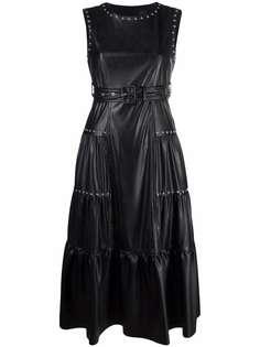 Pinko ярусное платье миди с заклепками