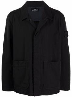 Stone Island Shadow Project куртка-рубашка с нашивкой-логотипом