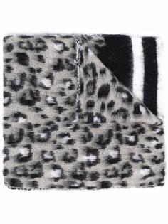 Pinko шарф с леопардовым принтом и полосками