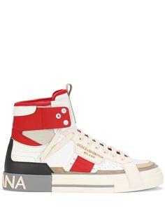Dolce & Gabbana высокие кроссовки 2.Zero со вставками