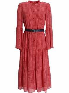 Michael Kors ярусное платье с цветочным принтом