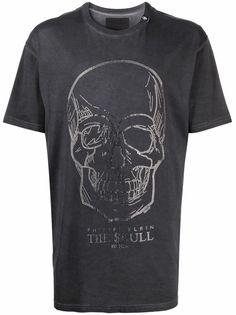 Philipp Plein футболка с декором Skull