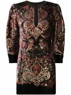 ETRO платье мини с принтом пейсли