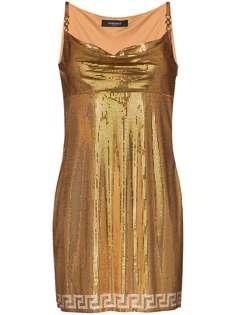 Versace платье мини Metal Mesh