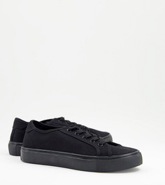 Черные кроссовки для широкой стопы на шнуровке ASOS DESIGN Dizzy-Черный цвет