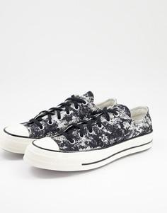 Черные фактурные кроссовки из жаккардовым тканевым верхом Converse Chuck 70Ox-Черный цвет