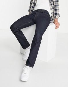 Темно-синие выбеленные джинсы классического прямого кроя Levis 551z-Темно-синий