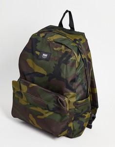 Рюкзак с камуфляжным принтом Vans Old Skool III-Зеленый цвет