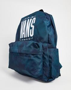 Синий рюкзак с принтом тай-дай Vans Old Skool IIII-Голубой