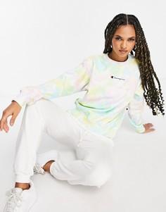 Многоцветный свитшот с принтом тай-дай Champion-Разноцветный