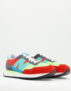 Кроссовки красного и голубого цветов New Balance 237-Красный