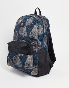 Черный рюкзак Vans Old Skool IIII Wireframe Skull-Черный цвет