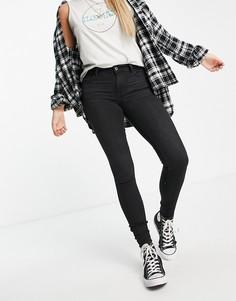 Черные выбеленные джинсы супероблегающего кроя Levis 710-Черный цвет