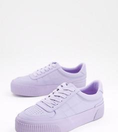 Сиреневые кроссовки для широкой стопы ASOS DESIGN Dekko-Фиолетовый цвет