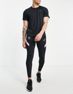 Черные джоггеры с логотипом клуба Paris Saint-Germain Nike Football Dri-FIT Strike-Черный цвет