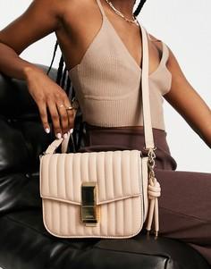 Кремовая стеганая сумка через плечо ALDO Erigossa-Светло-бежевый цвет